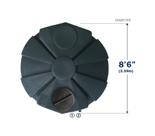 Tank Dimensions Top View