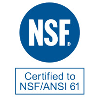 NSF Certified to NSF/ANSI 61